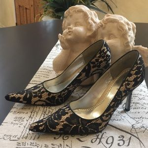 Luichiny Lacey high heels very pointy toe